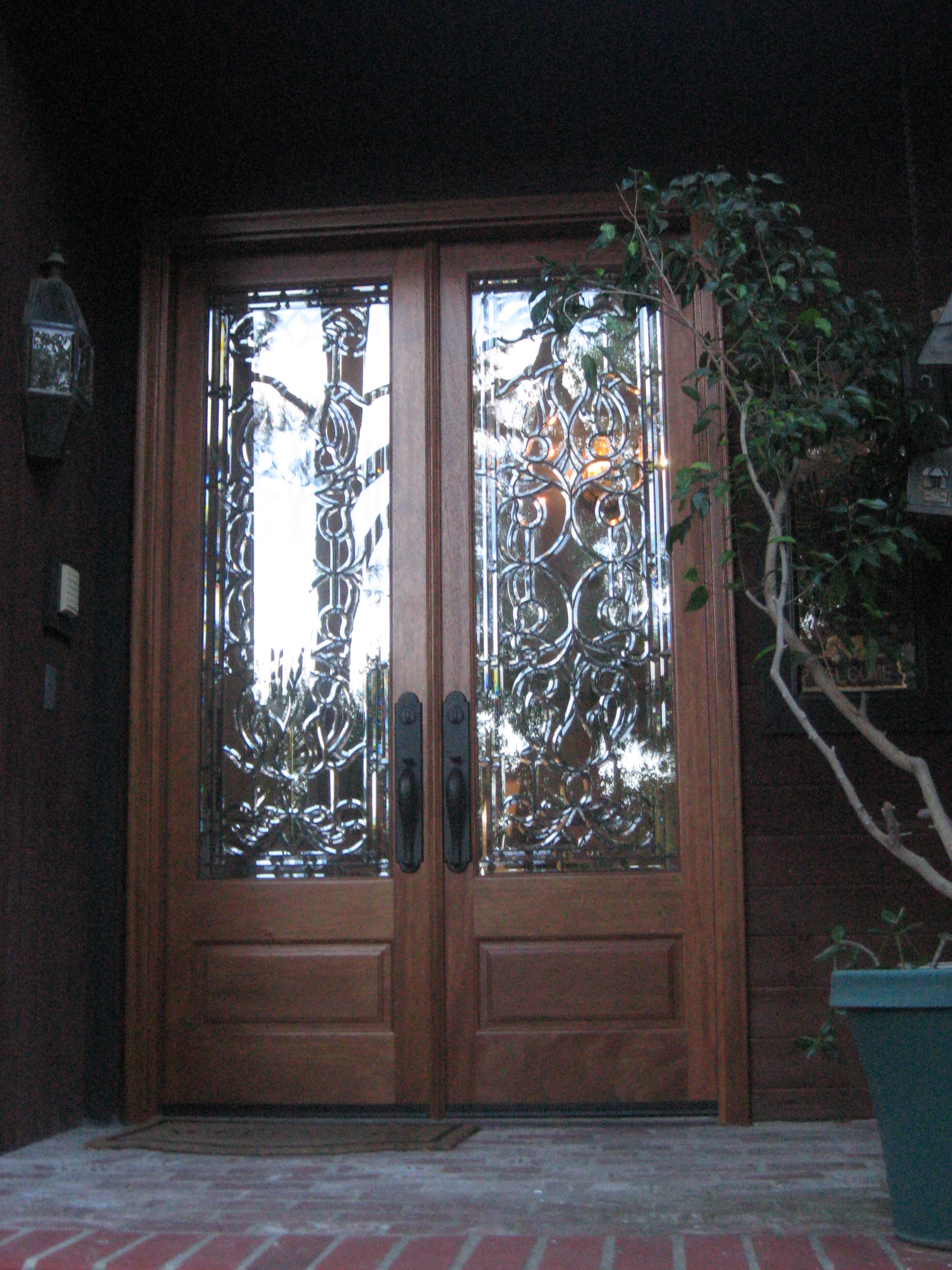 Double doors front entry doors exterior doors for Exterior front entry double doors